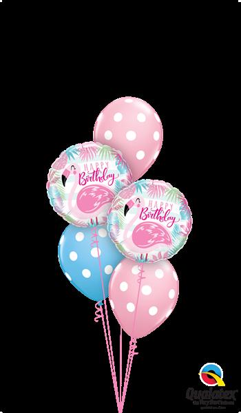 Picture of Flamingo Birthday Dots