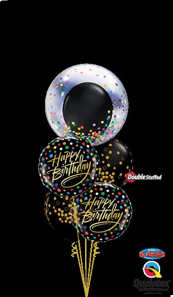 Picture of Black Confetti Birthday