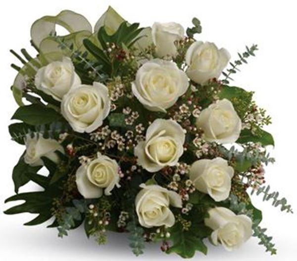 Picture of A Dozen White Roses