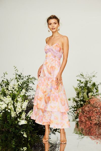 Picture of Cooper St - Peony Lace Trim Maxi Dress