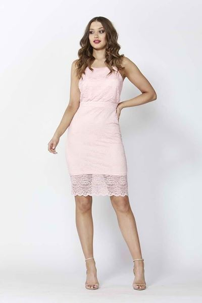 Picture of Sass - High Stakes Lace Dress - Pink