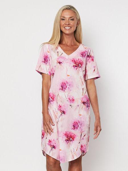Picture of Dahlia Print Dress - Pink   Gordon Smith