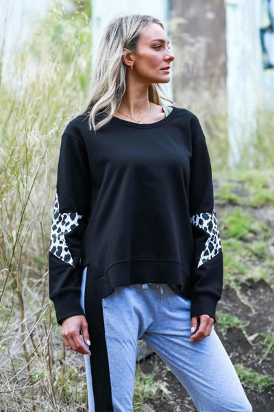Picture of Peyton Twin Star Sweater - Black Leopard  3rd Story